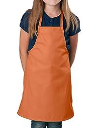 儿童围裙,中号围嘴 橙色 2组 1941ORAPAK2