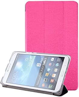 alsatek PU皮革保护壳适用于华为 MediaPad M3 Lite 8.0,带3个隔层,品红