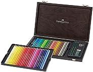 Faber-Castell 辉柏嘉 110006 彩色铅笔 Polychromos 48个木质箱子 带配件 防水防碎 适用于专业人士和业余艺术家