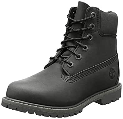 Timberland 添柏岚 女式 6 英寸优质靴 Jet Black 9.5 M US