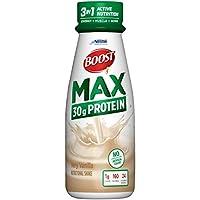 Boost Nutritional Drinks Max 蛋白質飲料,香草味,11盎司(約311.84克),瓶裝,12瓶(包裝可能有所不同)