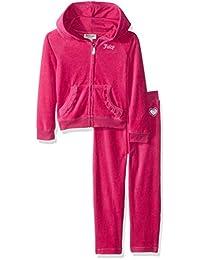 Juicy Couture 女童 2 件套慢跑套装 - 天鹅绒