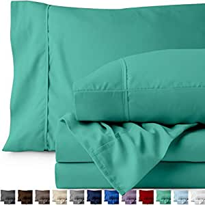 Bare Home 优质超柔软超细纤维床单套装 蓝绿色 两个 812228037092