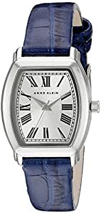 Anne Klein 女士 AK/2163SVNV 银色和*蓝鳄鱼纹图案表带手表