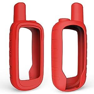TUSITA Garmin Alpha 100 手持式 GPS 保护套,硅胶皮肤保护套配件带屏幕保护膜 红色