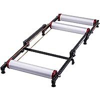 ROCK BROS 自行车滚轮 可调节自行车训练架 可折叠 室内自行车 自行车滚轮 带阻力 适用于山地自行车公路自行车运动 黑色