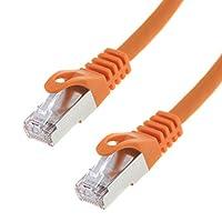 7类S/FTP PIMF网线; 千兆以太网转接电缆;Seki;橙色313373  0,50 Meter
