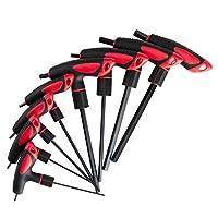 Lichamp T Handle Allen 扳手套装公制,米节 Thandle T 恤手柄艾伦六角钥匙套装 MM,2 2.5 3 4 5 6 8 10 毫米,8 件高强度套装