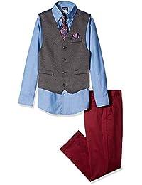 Nautica 男童套装背心,裤子,衬衫领带