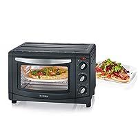 Severin TO 迷你电动烤箱,配有热空气功能,功率 1500 W 2061 黑色