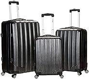 Rockland Luggage 3 件套金属直立式套装 碳灰色 均码