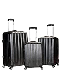 Rockland Luggage 3 Piece Metallic Upright Set