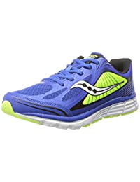 Saucony Boys Kinvara 5 - K 系带 Blue/Citron 10.5 M US 儿童