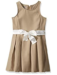 Cherokee 学院制服女童无袖连衣裙,带可拆卸缎带