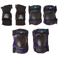 Triple Eight Galaxy 儿童垫套装,护腕/肘/膝盖,银河,青少年