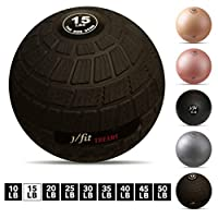 j/fit TREADS Dead Weight Slam Ball with Easy-Grip Textured Surface, 15 lb