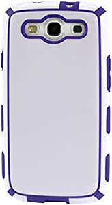Reiko Portable (Light) Protector Cover Pc Plus Tpu for Samsung Galaxy S III I9300 - Retail Packaging - White/Purple