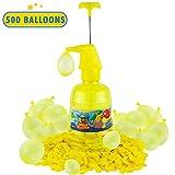 水/气球泵站表情符号喷气器 - 500 气球充水气球泵套件 - 夏季户外儿童后院乐趣活动