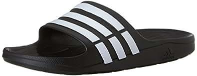 adidas duramo Slide 凉鞋 Black/White/Black 4 M US