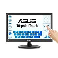 "ASUS 15.6"" 1366x768 HDMI VGA 10 点触控眼部护理屏幕 LCD 显示器 (VT168H)VT168H  15.6-inch"