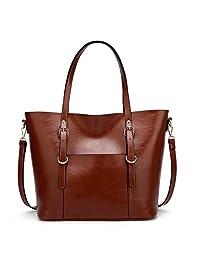 女式手提包柔软 PU 皮革手包手提包手提包女士单肩包