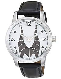 Disney 迪士尼 女式 恶棍 模拟石英手表 *皮革表带 黑色 18(型号:WDS000895)