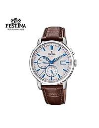 【跨境自营】Festina 法斯蒂納 石英男士时尚腕表,带月份,星期,24小时显示 F20280/2(保税区直发,包邮包税)