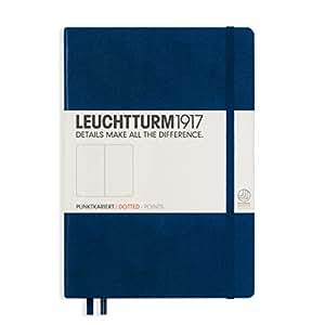 LEUCHTTURM1917 灯塔中开点格笔记本藏蓝色硬封皮(A5)