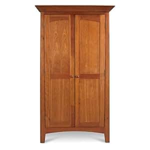 全赢家具 原单外贸 美式实木家具 樱桃物木实木大衣柜 两门衣柜 卧室时尚现代简约主义