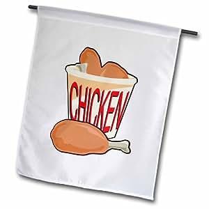3dRose fl_150099_2 冰鸡食品设计花园旗,45.72 x 68.58cm