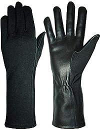 Hank's Surplus *风格 Nomex 和 MultiCam 飞行员飞行皮革手套