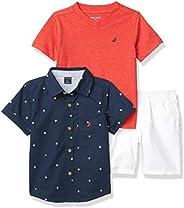 Nautica 套裝 (KHQ) 男孩短袖襯衫