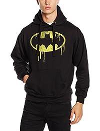 DC Comics 男士蝙蝠侠漂浮标志连帽衫
