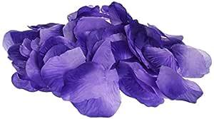Homeford 400 件人造玫瑰花瓣五彩纸屑桌面散布 紫色 PSNS8555PU