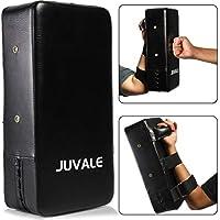 Juvale 日常训练踢水垫(20.32 x 10.16 厘米,黑色,PU 皮革)