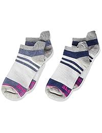 Skechers 斯凯奇 女童 2 双装 四分之一袜 柔软棉混纺儿童袜