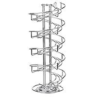 Toplife 螺旋设计不锈钢鸡蛋抽屉架,储物展示架 银色 OAHF00247SI