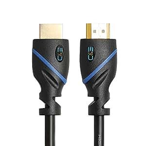 C&E 高速 HDMI 线缆,(60 英尺/18.29 米),公对公,支持以太网,3D 和音频回传通道,全高清(2 包)