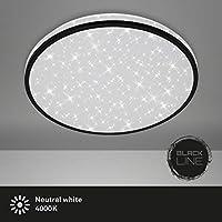 Briloner Leuchten – LED吸顶灯,顶灯包括星星装饰,24瓦,2200流明,4000开尔文,白色-黑色,直径38厘米