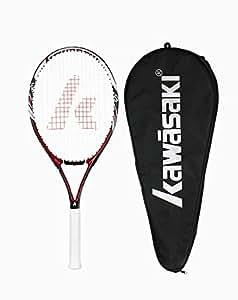 川崎kawasaki碳纤维网球拍单拍k-17,18(已穿线) (红色)