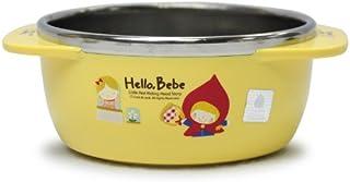 Lock&Lock Hello Bebe Storytelling Educational Design 婴儿喂食不锈钢碗,带手柄,小号