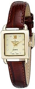 Peugeot Women's 3034BR Analog Display Japanese Quartz Brown Watch