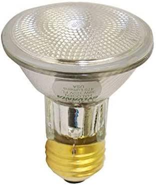 SYLVANIA 16104 Capsylite 卤素可调光灯/PAR20 泛光反射灯/50W 替换灯/中底 E26 / 39 瓦/2850 K - 暖白色 黄色 12 包