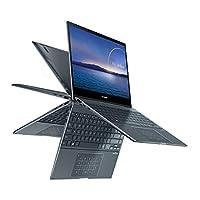 ASUS 华硕 ZenBook Flip 13 超薄 2 合 1 笔记本电脑,13.3英寸全高清触摸屏显示屏,英特尔酷睿i5-1035G1 处理器,8GB 内存,512GB PCIe SSD,Thunderbolt 3,Windows 10 家庭版,松灰色,UX363JA-DB51T