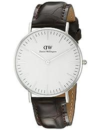 Daniel Wellington 丹尼尔•惠灵顿 瑞典品牌 Classic系列 银色表圈表扣 石英手表 女士腕表 DW00100055(原型号0610DW)
