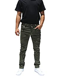 Revol Men's Skinny Fit Color Twill Denim Pants Jeans