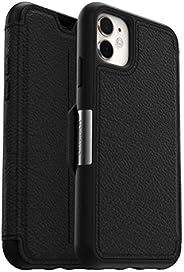 OtterBox Strada 系列高级皮革保护套77-62830 Strada iPhone 11 黑色(Shadow)