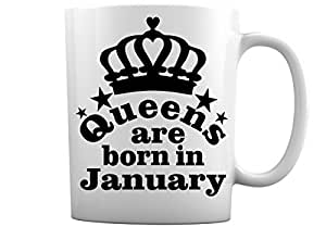 Queens are Born in January,2/March ch,April ,May,June ,July,August,October ,9 月,11 月,12 月,12 月,生日白咖啡杯 Born in January 11 盎司 unknown