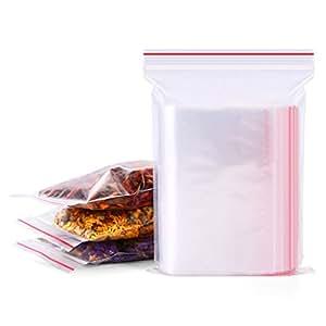 100 个透明塑料拉链袋自封塑料袋*袋喜爱零食储物袋烘焙曲奇糖果装饰包装 透明的 3X5inch TOPWEL-C84-3x5-100PCS