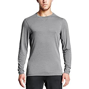 Mission Men's VaporActive Amplified Merino Long Sleeve Shirt, Quiet Shade, X-Large